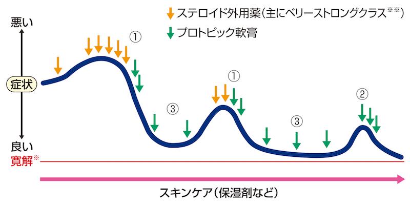 プロアクティブ療法の説明の図